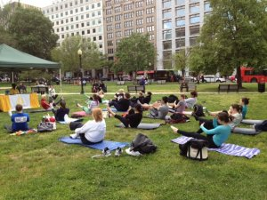Golden Triangle Pilates in the Park 2012